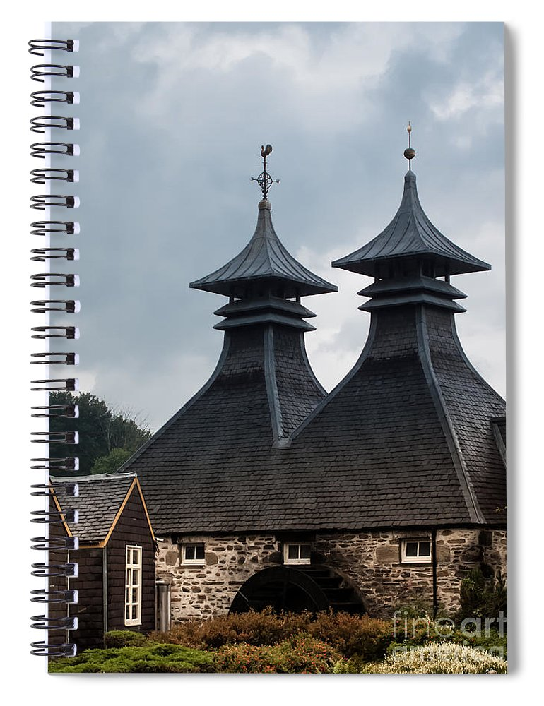 Scotland Spiral Notebook featuring the photograph Strathisla Whisky Distillery Scotland #2 by Jan Bickerton