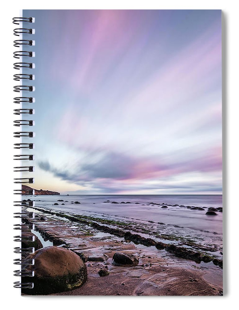 Bowling Ball Beach Spiral Notebook featuring the photograph Streaking On The Beach by Jon Glaser