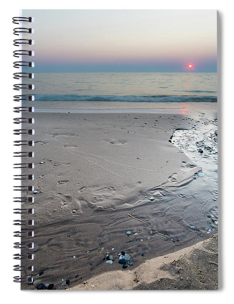 Pierport Spiral Notebook featuring the photograph Stream To The Sunset by Twenty Two North Photography