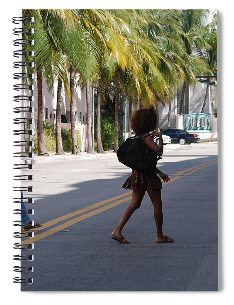 Girls Spiral Notebook featuring the photograph Street Walkers by Rob Hans