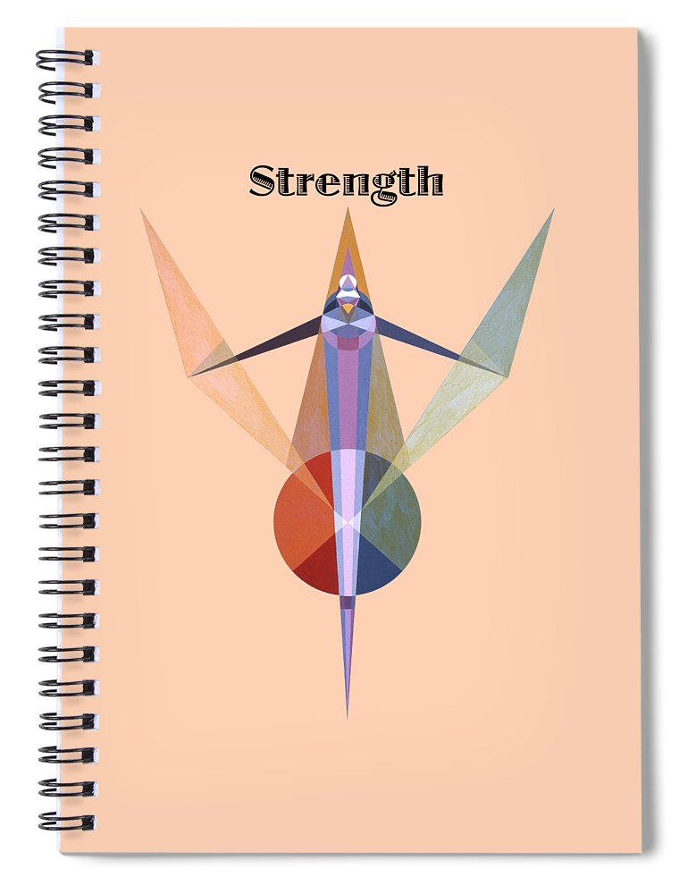 Painting Spiral Notebook featuring the painting Strength text by Michael Bellon