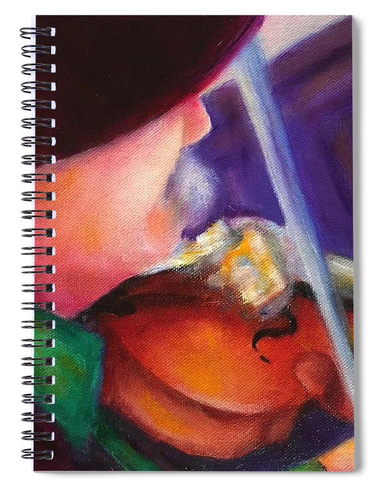 Strings Spiral Notebook featuring the painting Strings by Shannon Grissom