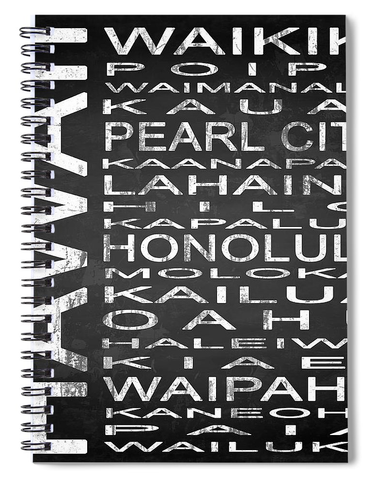 Subway Sign Spiral Notebook featuring the digital art Subway Hawaii State Square by Melissa Smith