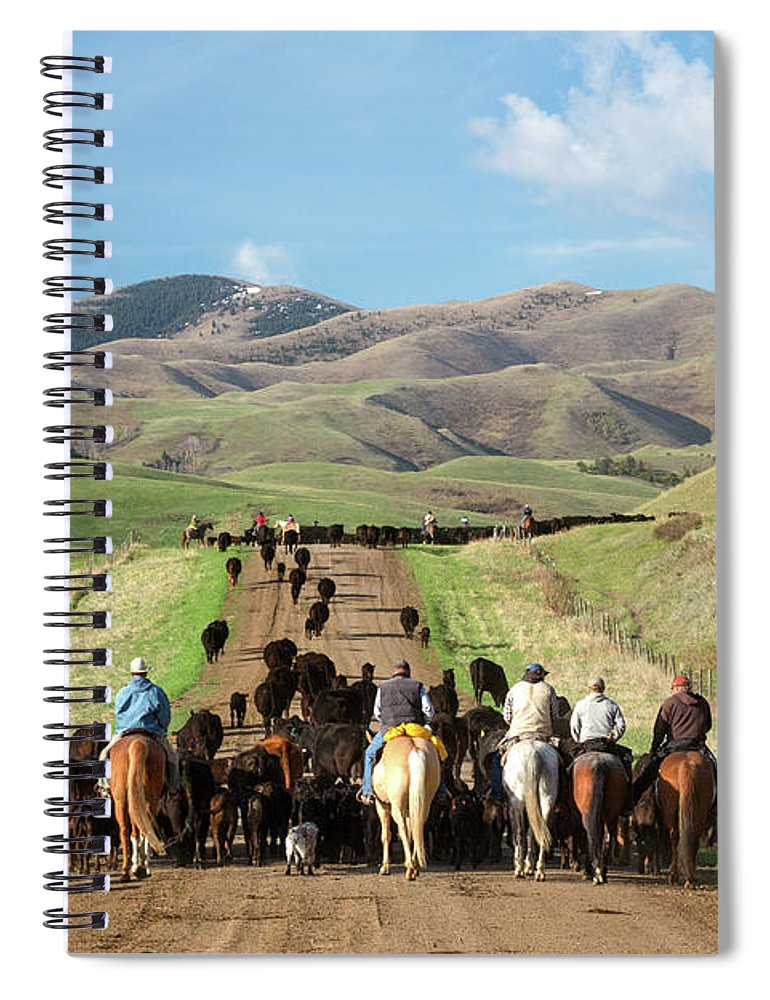 Farm Spiral Notebook featuring the photograph Sucker Creek Drive by Todd Klassy