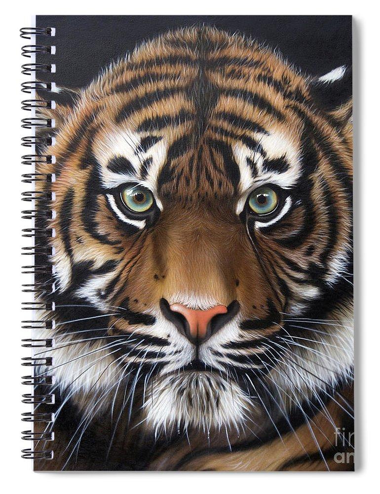 Sandi Baker Spiral Notebook featuring the painting Sumatran 2 by Sandi Baker