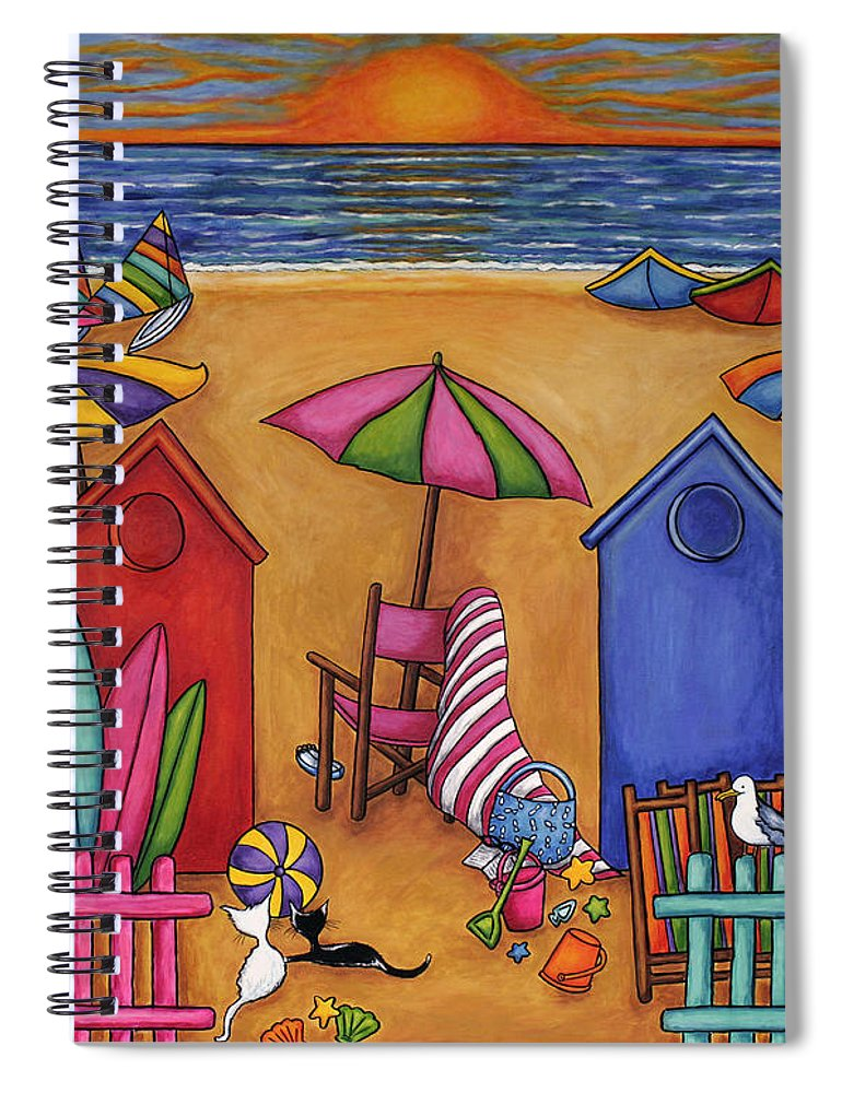 Summer Spiral Notebook featuring the painting Summer Delight by Lisa Lorenz