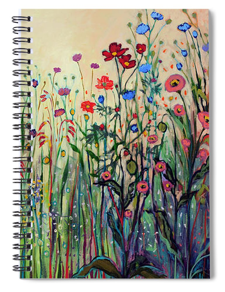 Floral Spiral Notebook featuring the painting Summer Joy by Jennifer Lommers