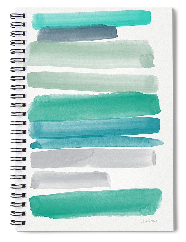 Abstract Sky Spiral Notebook featuring the painting Summer Sky by Linda Woods