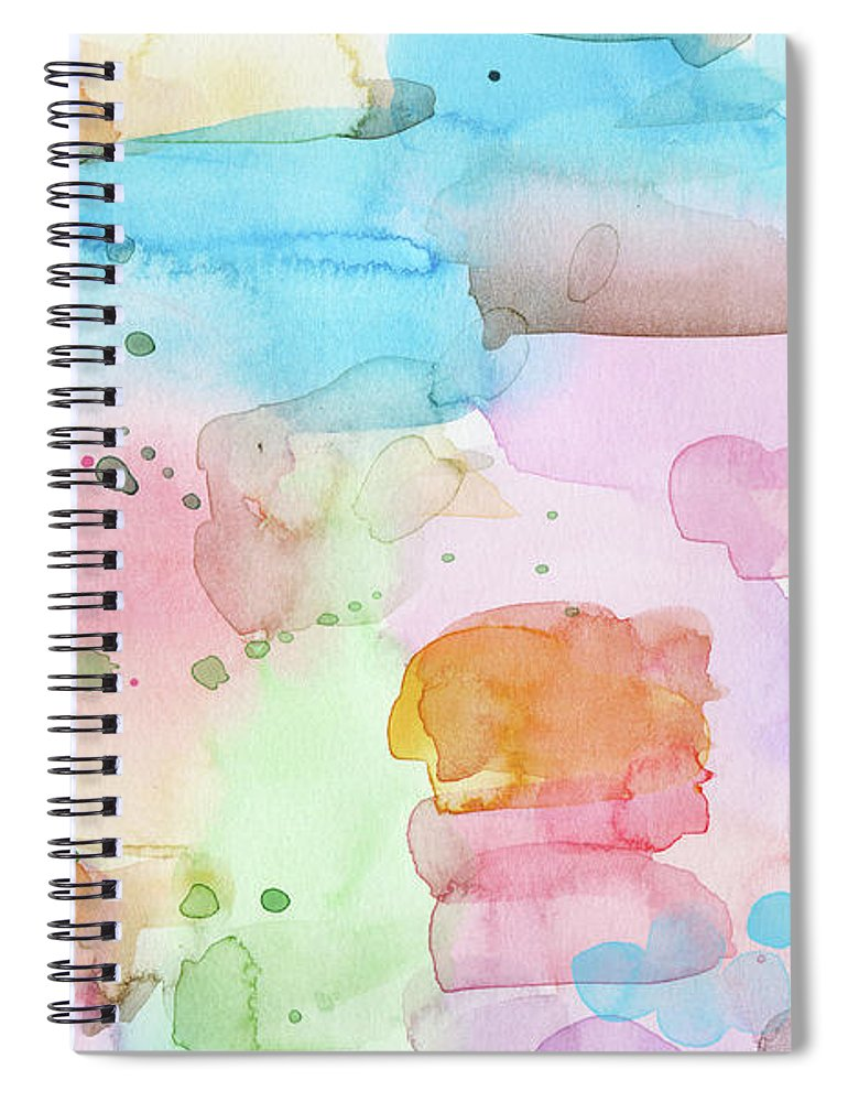 Abstract Spiral Notebook featuring the painting Summer Wonder- Art By Linda Woods by Linda Woods