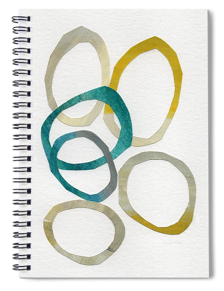 Abstract Art Spiral Notebook featuring the mixed media Sun and Sky- abstract art by Linda Woods