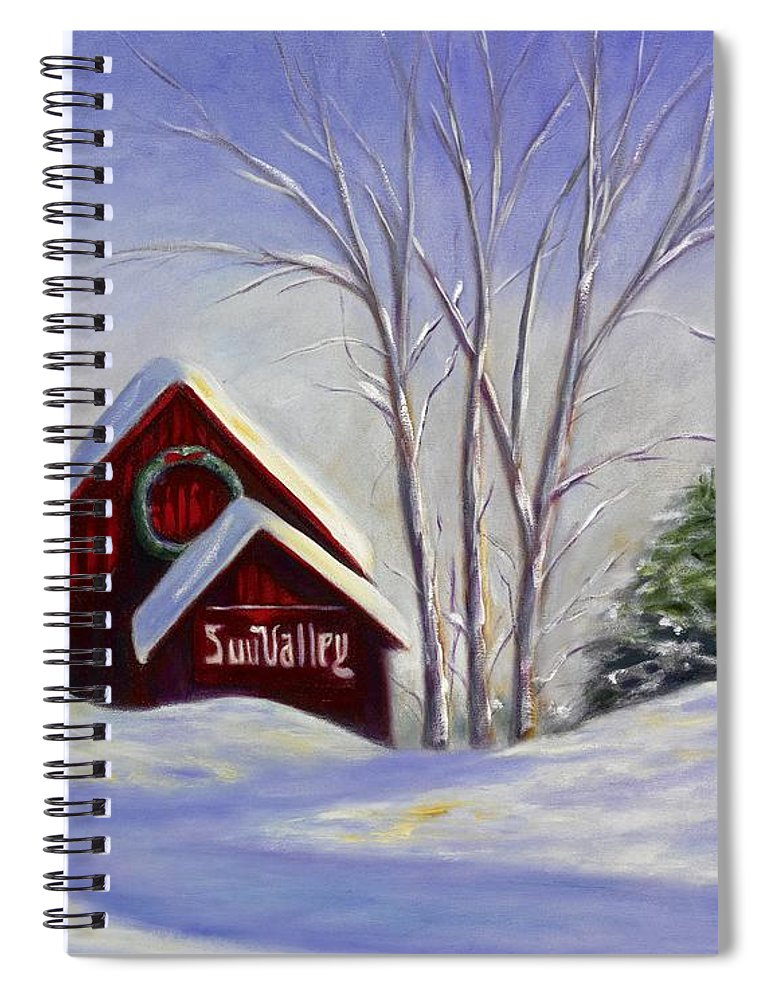 Landscape White Spiral Notebook featuring the painting Sun Valley 1 by Shannon Grissom