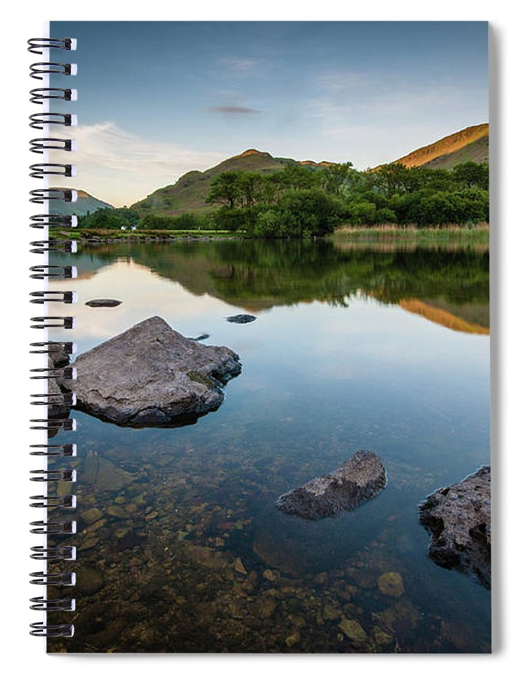 Lake District Spiral Notebook featuring the photograph Sunrise at Ullswater, Lake District, North West England by Anthony Lawlor