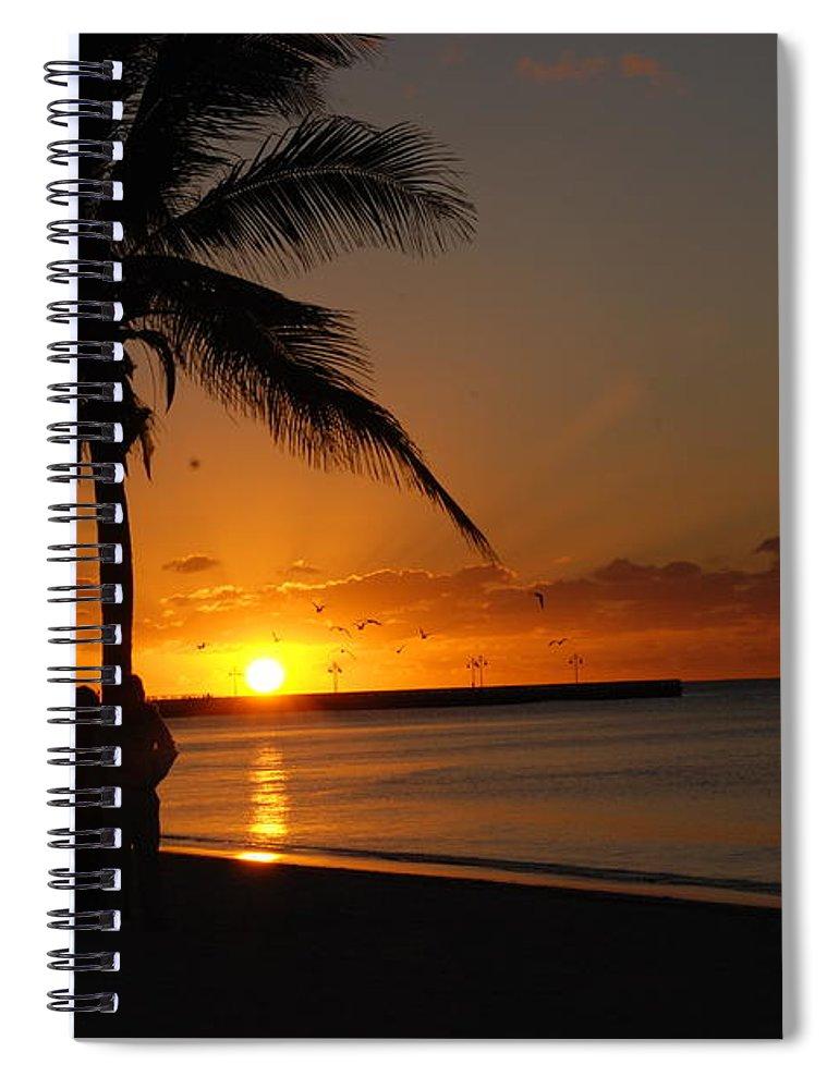 Sunrise Photos In Key West Fl Spiral Notebook featuring the photograph Sunrise in Key West FL by Susanne Van Hulst