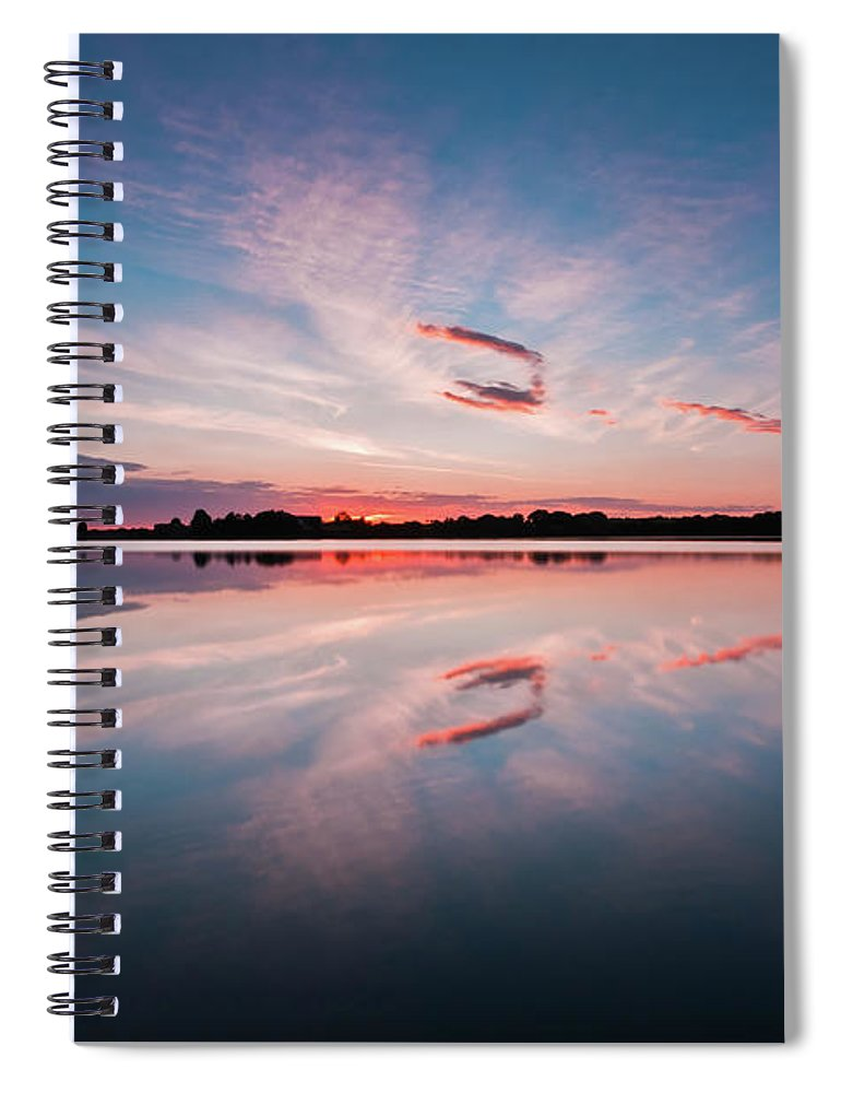 Sunrise Spiral Notebook featuring the photograph Sunset at Anglezarke Reservoir #3, Rivington, Lancashire, North West England by Anthony Lawlor