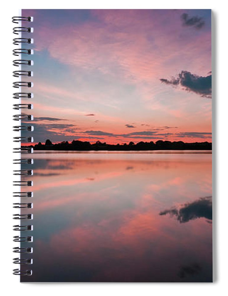 Sunrise Spiral Notebook featuring the photograph Sunset at Anglezarke Reservoir #4, Rivington, Lancashire, North West England by Anthony Lawlor