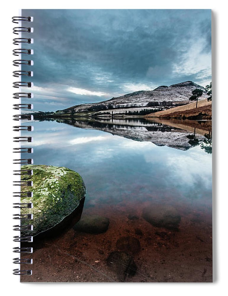 Sunset Spiral Notebook featuring the photograph Sunset at Dovestone Reservoir, Greater Manchester, North West England by Anthony Lawlor
