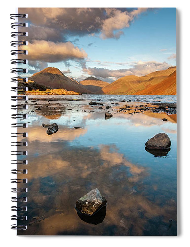 Sunrise Spiral Notebook featuring the photograph Sunset At Wast Water #3, Wasdale, Lake District, England by Anthony Lawlor