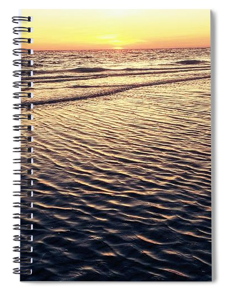 Spiral Notebook featuring the digital art Sunset Beach In Florida Paradise by Alfred Blaho
