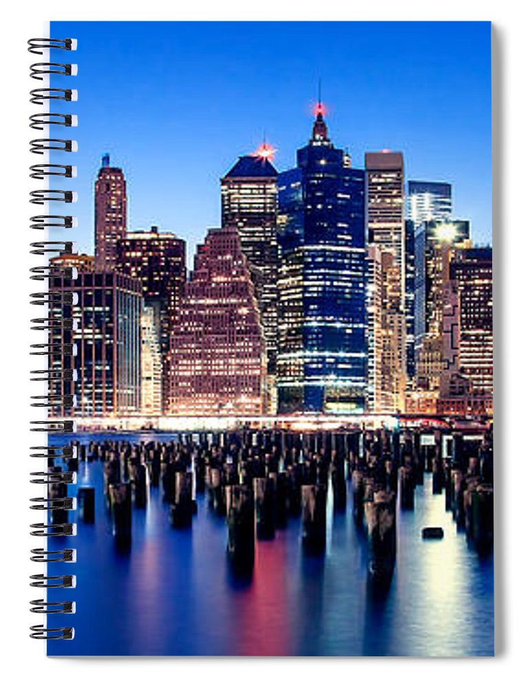 New York City Spiral Notebook featuring the photograph Magic Manhattan by Az Jackson