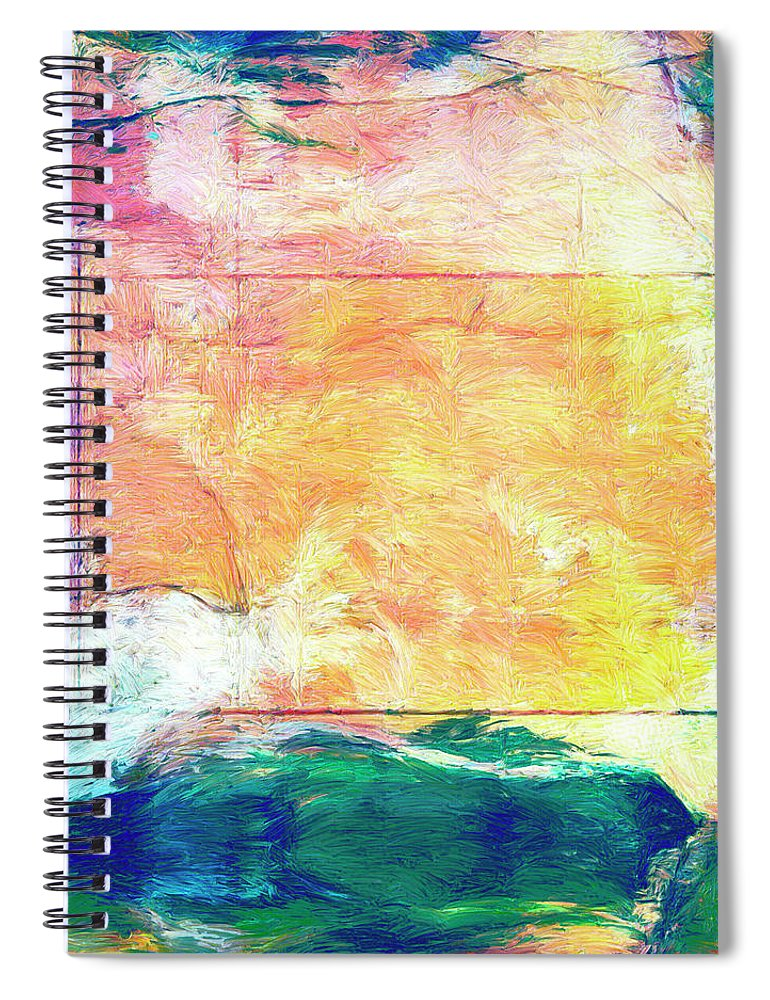 Abstract Spiral Notebook featuring the painting Surface Vector by Dominic Piperata