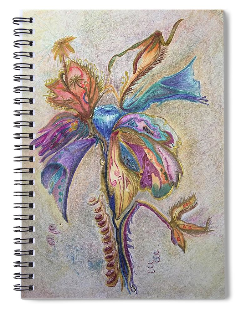 Plants Spiral Notebook featuring the drawing Surrender by Suzanne Udell Levinger