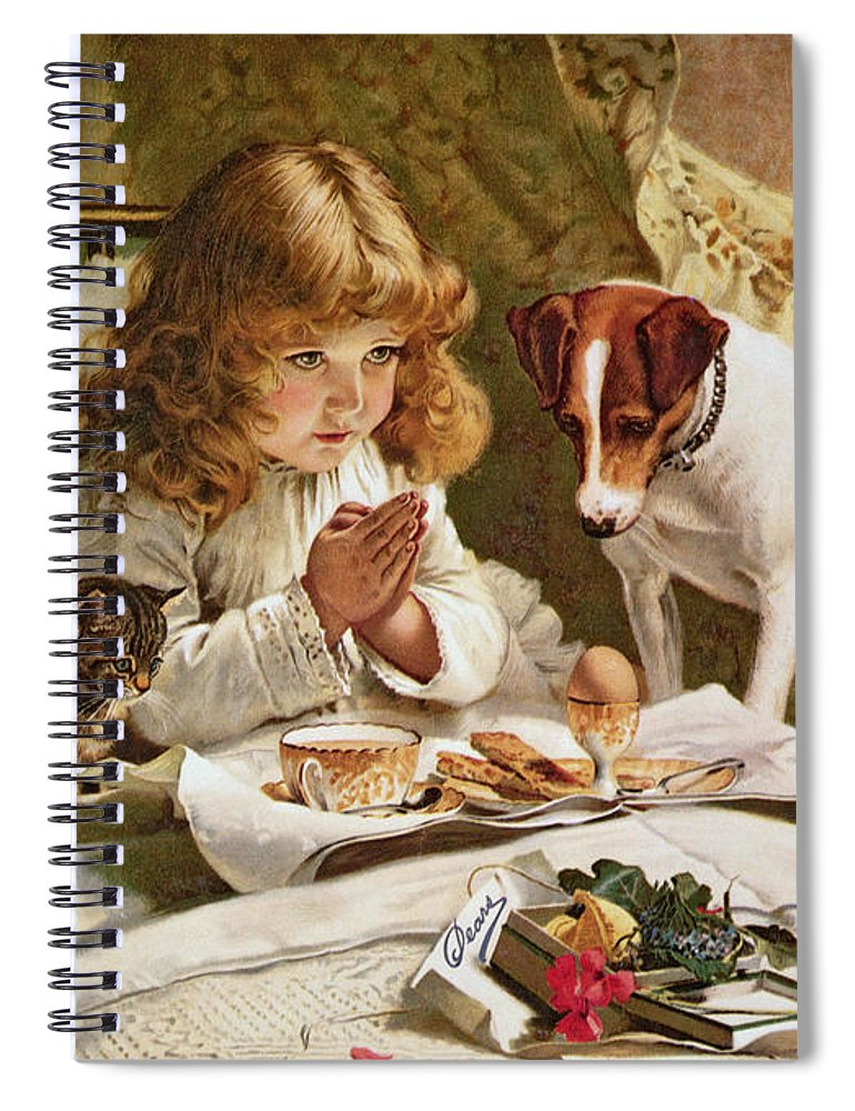Suspense Spiral Notebook featuring the painting Suspense by Charles Burton Barber