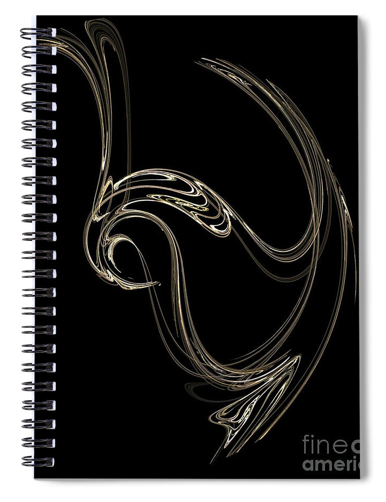 Fractals Spiral Notebook featuring the digital art Swan Dance by Richard Rizzo