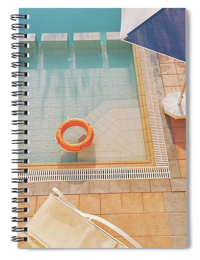 Water Spiral Notebook featuring the photograph Swimming Pool by Cassia Beck