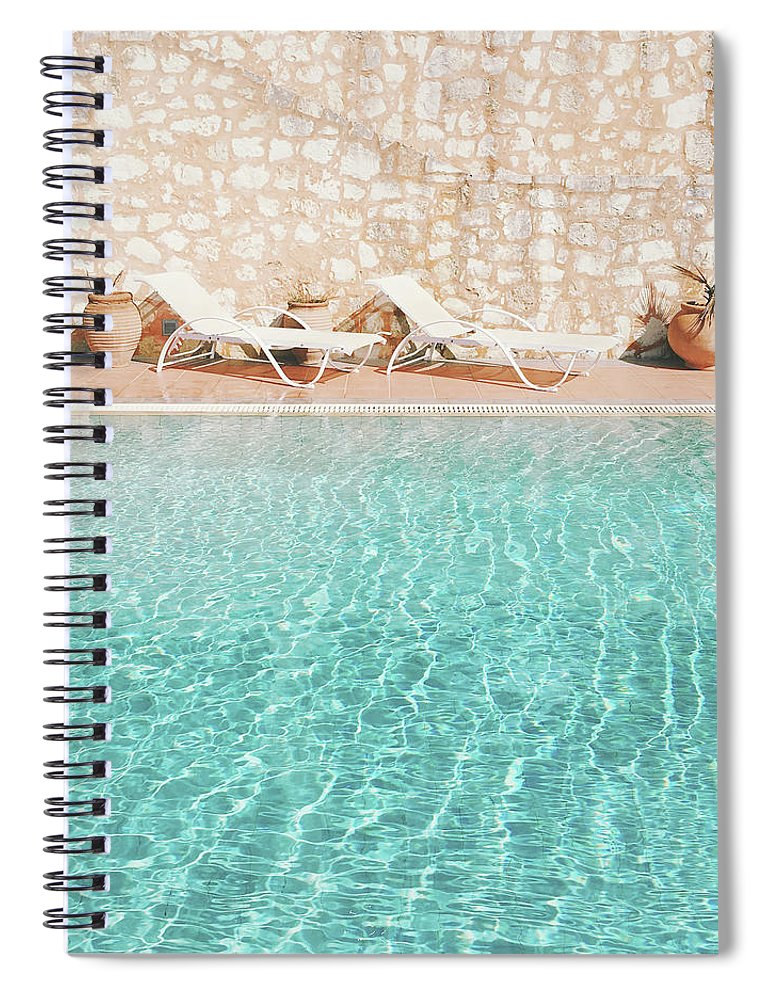 Water Spiral Notebook featuring the photograph Swimming Pool V by Cassia Beck