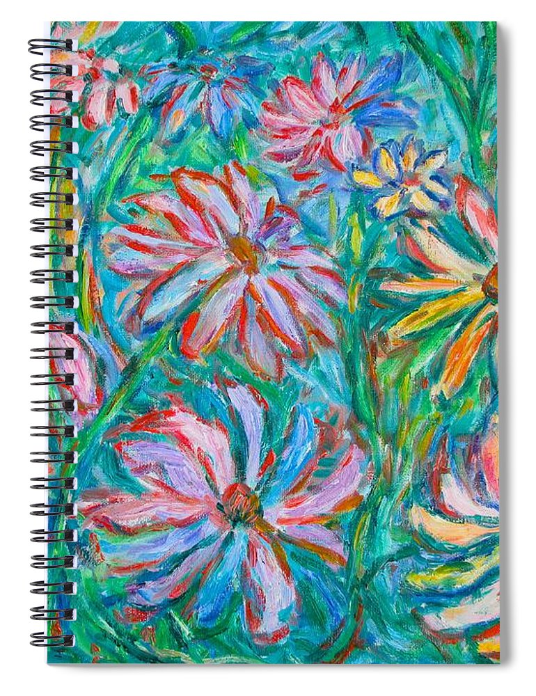 Impressionist Spiral Notebook featuring the painting Swirling Color by Kendall Kessler