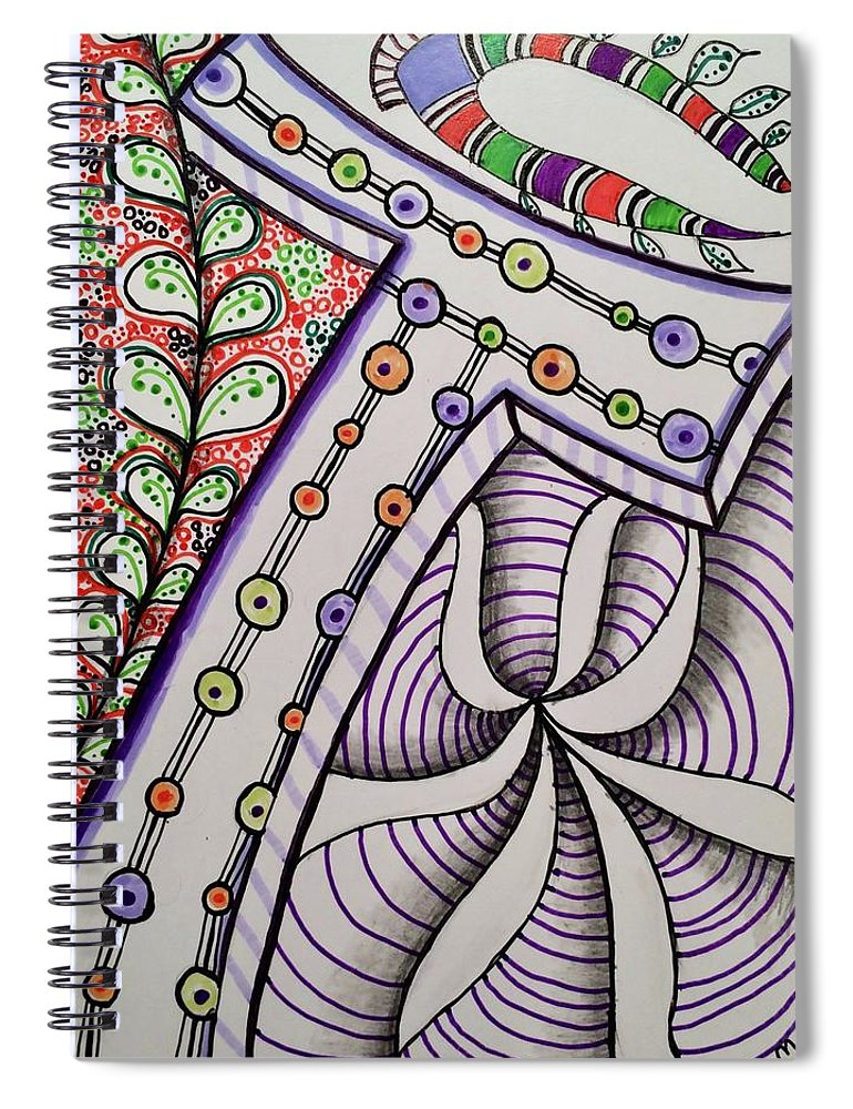 Lettering Spiral Notebook featuring the drawing T is for Tom by Suzanne Udell Levinger