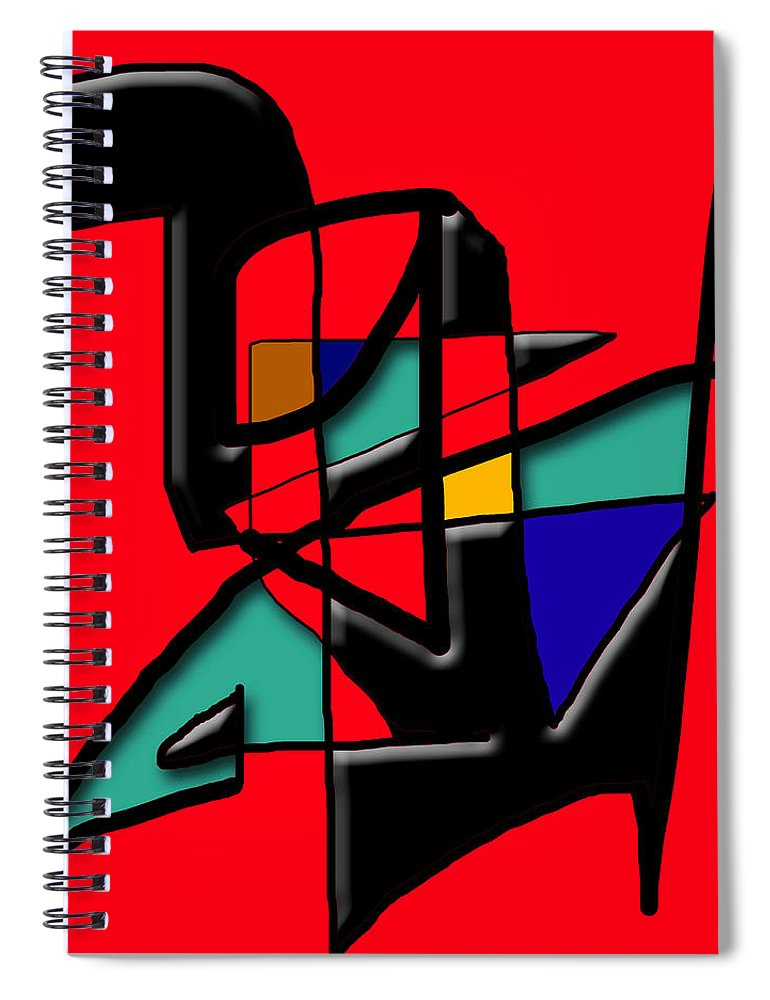 Modern Spiral Notebook featuring the digital art Tactile Space  II  by Stephen Lucas