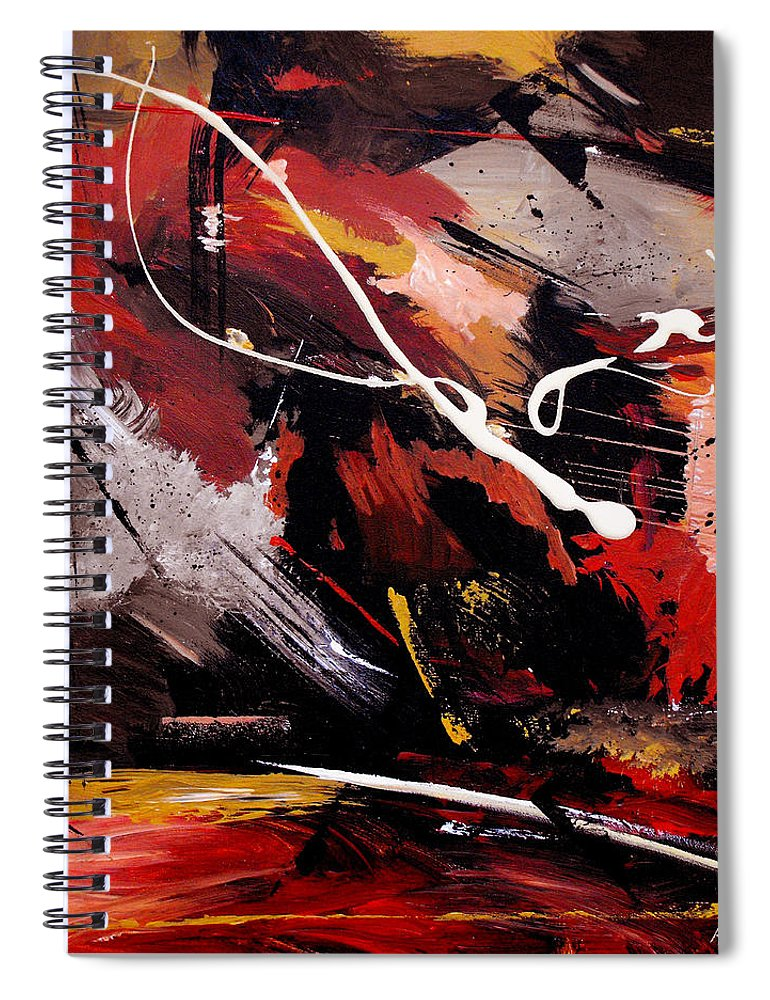 Abstract Spiral Notebook featuring the painting Take To Heart by Ruth Palmer