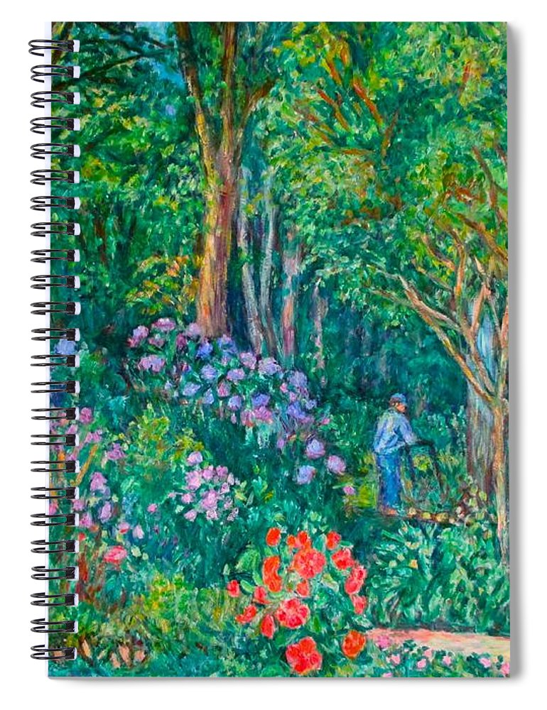 Suburban Paintings Spiral Notebook featuring the painting Taking a Break by Kendall Kessler