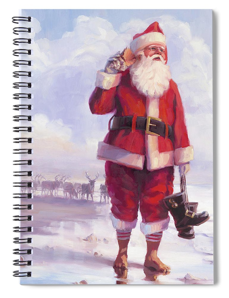 Christmas Spiral Notebook featuring the painting Taking A Break by Steve Henderson