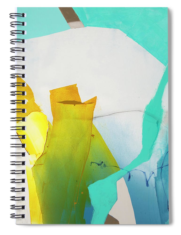 Abstract Spiral Notebook featuring the painting Talking To Myself by Claire Desjardins
