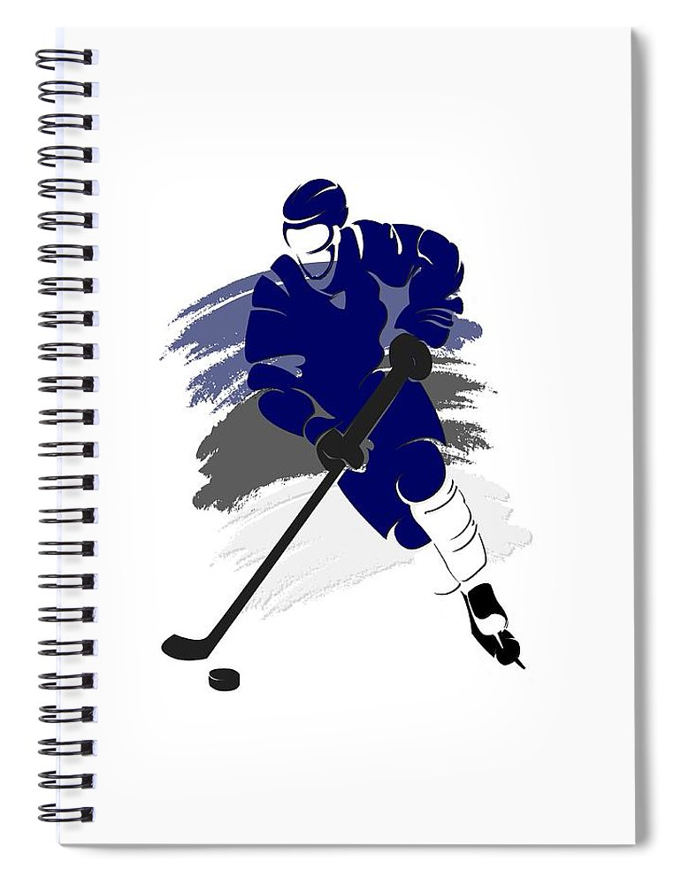 Lightning Spiral Notebook featuring the photograph Tampa Bay Lightning Player Shirt by Joe Hamilton