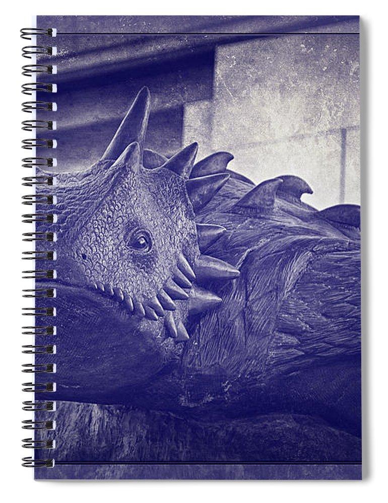 Joan Carroll Spiral Notebook featuring the photograph Tcu Horned Frog Purple by Joan Carroll