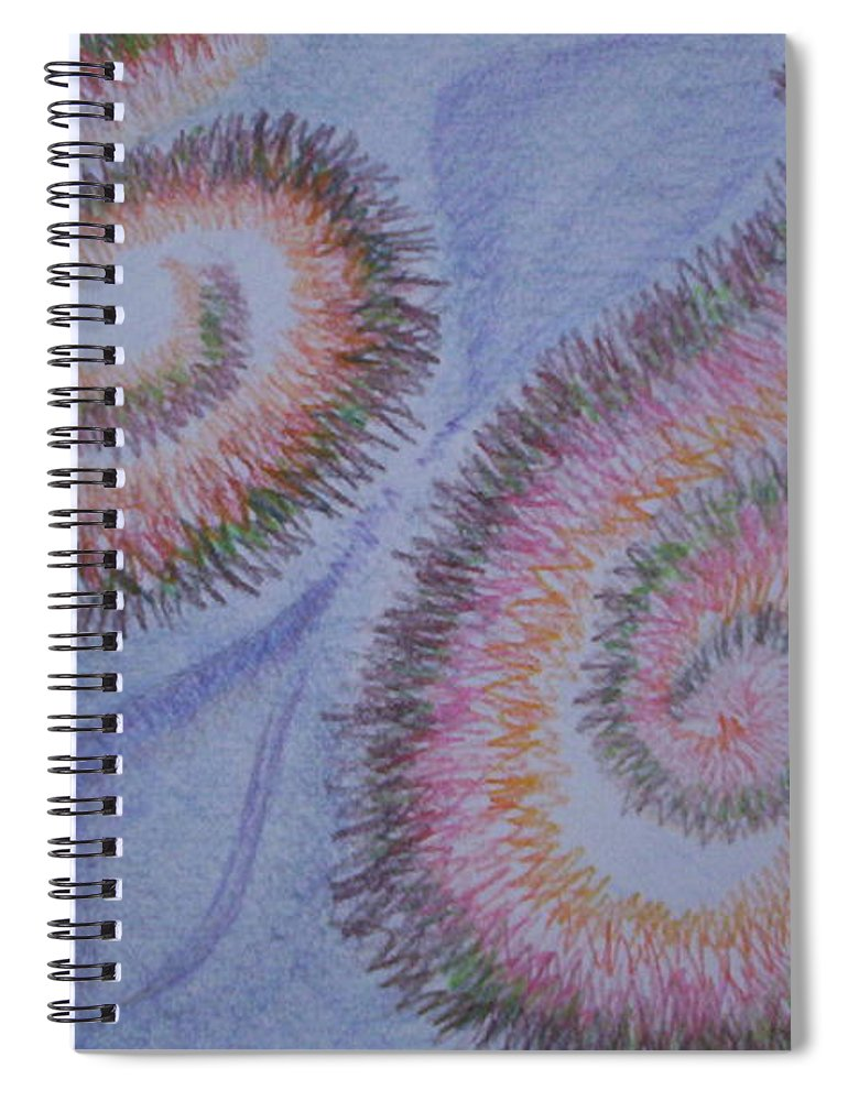 Abstract Spiral Notebook featuring the drawing Teach Me by Suzanne Udell Levinger
