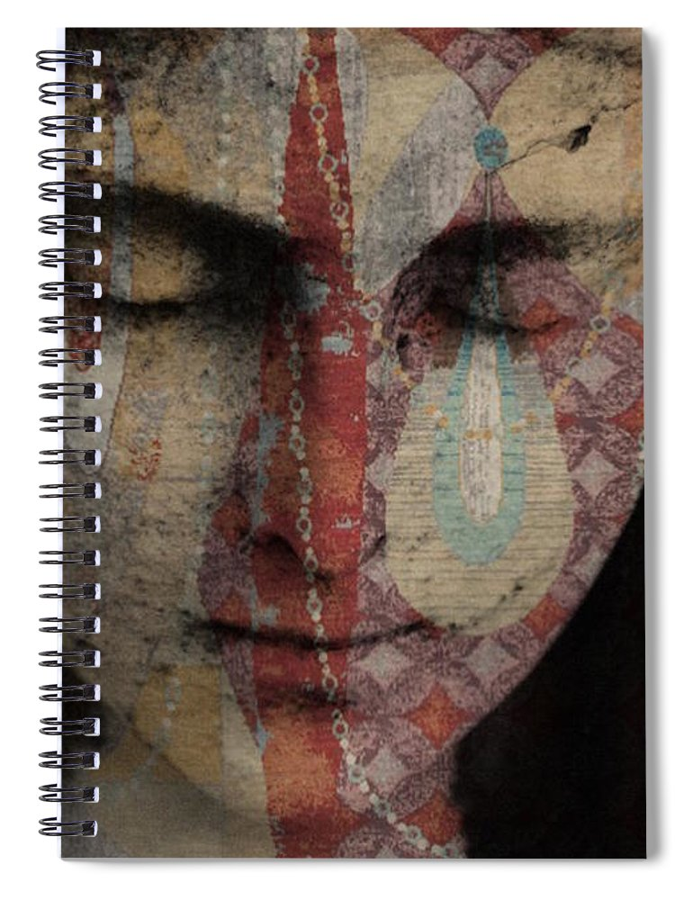 Religious Spiral Notebook featuring the mixed media Tell Me There's A Heaven by Paul Lovering