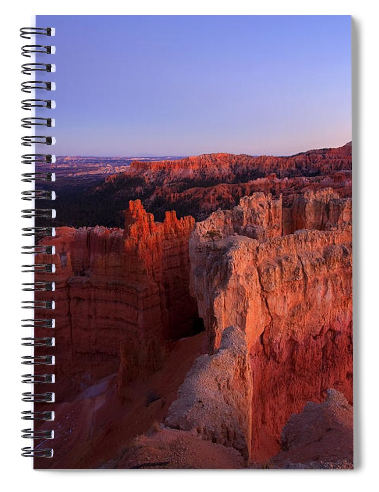 Hoodoo Spiral Notebook featuring the photograph Temple of the setting sun by Mike Dawson