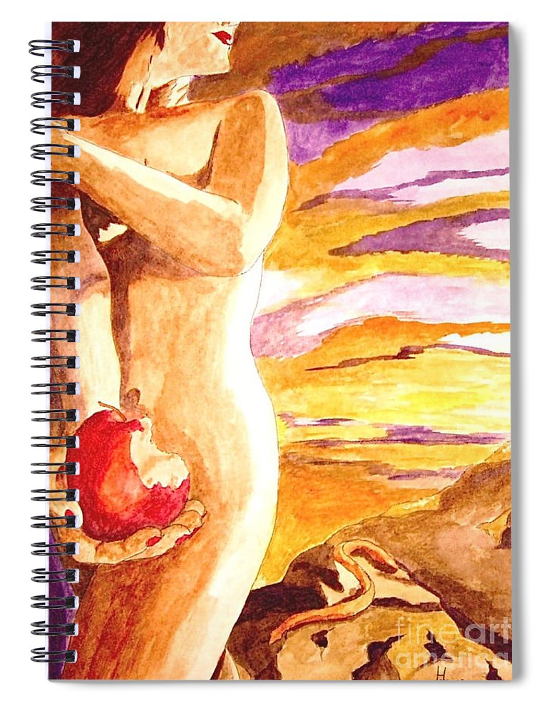 Watercolor Spiral Notebook featuring the painting Temptation by Herschel Fall