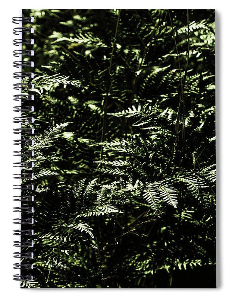 Green Spiral Notebook featuring the photograph Textures Of A Rainforest by Jorgo Photography - Wall Art Gallery