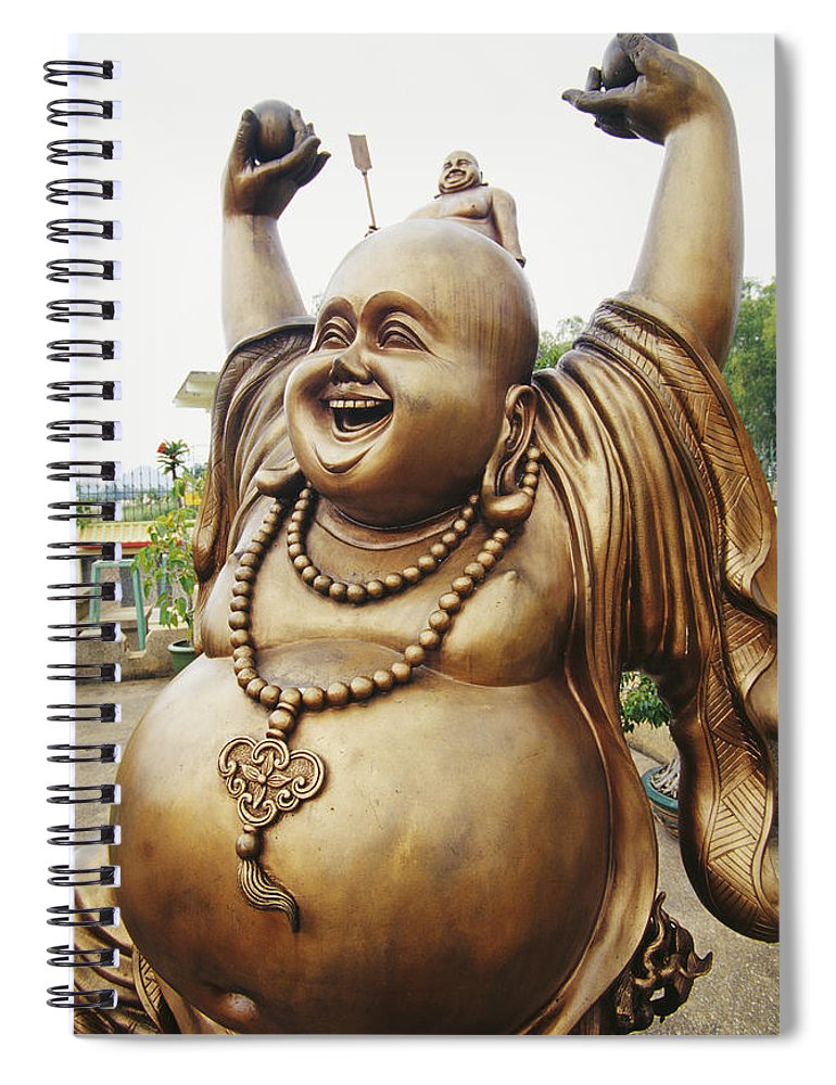 Arm Spiral Notebook featuring the photograph Thailand, Pattaya by Bill Brennan - Printscapes