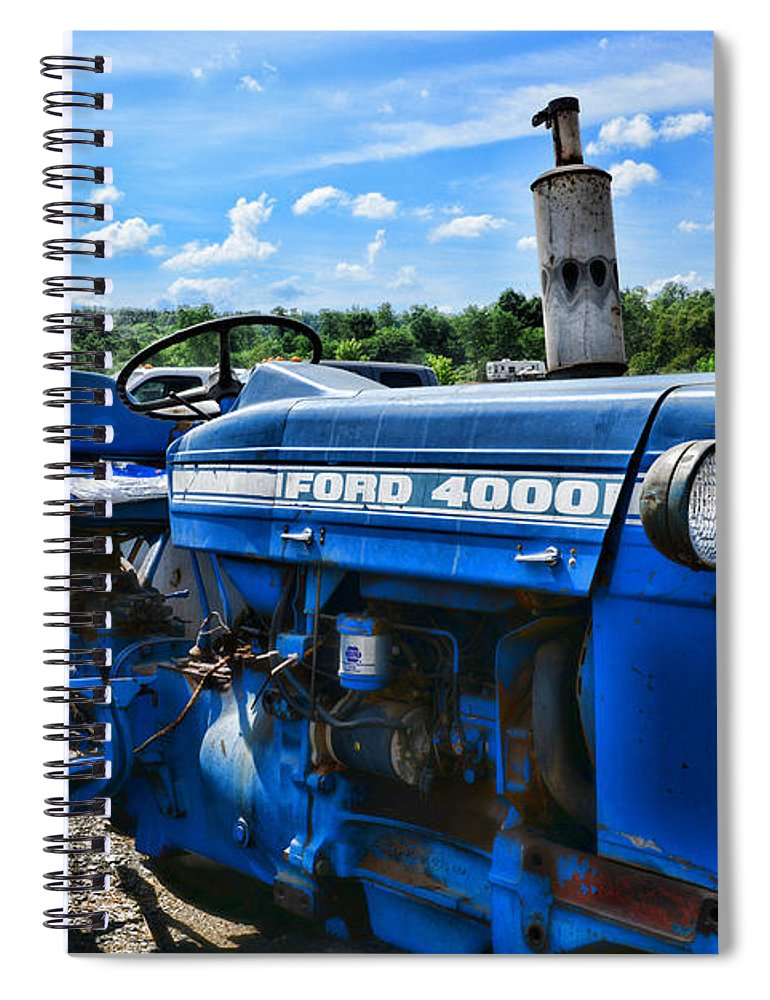 Paul Ward Spiral Notebook featuring the photograph That Old Ford Tractor by Paul Ward
