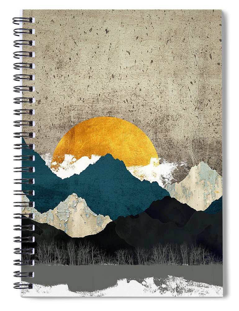 Thaw Spiral Notebook featuring the digital art Thaw by Katherine Smit