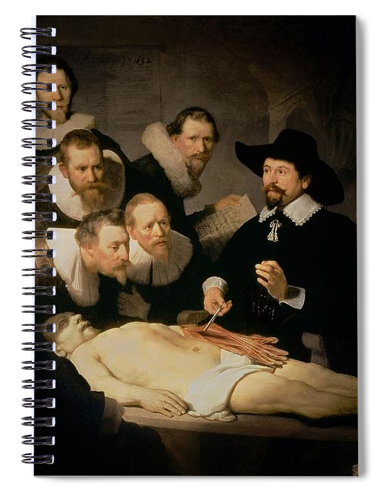 The Anatomy Lesson Of Doctor Nicolaes Tulp Spiral Notebook for Sale ...