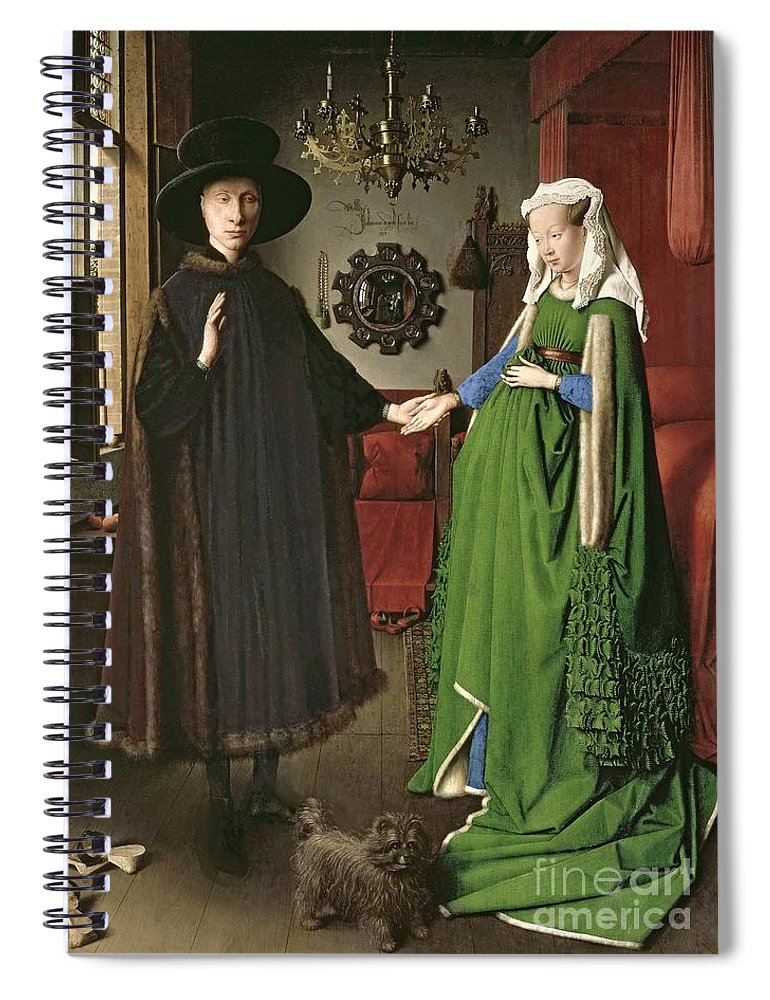 The Spiral Notebook featuring the painting The Arnolfini Marriage by Jan van Eyck