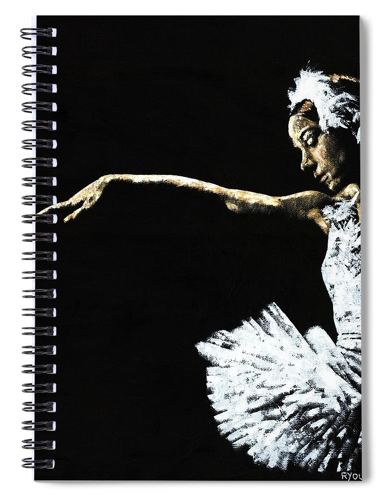 Ballet Spiral Notebook featuring the painting The Art of Grace by Richard Young