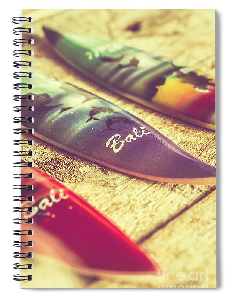 Board Spiral Notebook featuring the photograph The Art Of Surf by Jorgo Photography - Wall Art Gallery